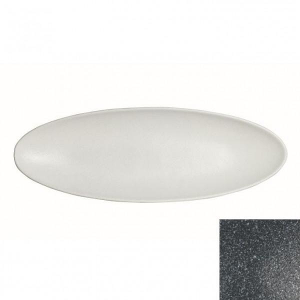 Obstplatte, oval granitschwarz - 3,5 L - 25 x 70 x 5,5 cm