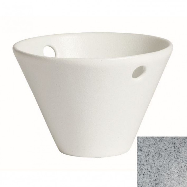 Eiskübel, rund grau - 1,7 L - Ø 24,5 x 16 cm