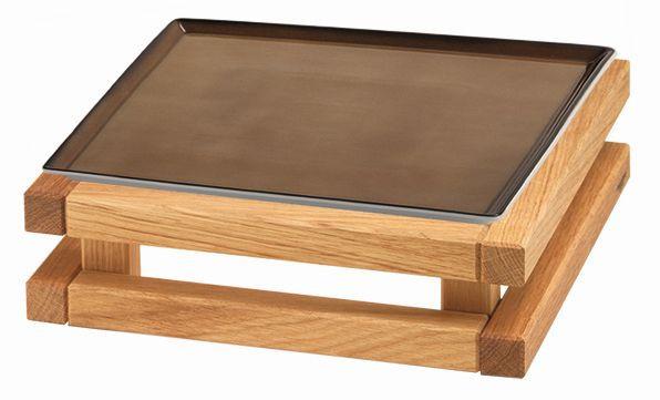 RAISER 'Frischeplatte 23x23' caramel S-Standfuß 'Oak'