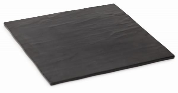 Melamin Servierboard, matt Schiefer-Design - 28 x 28 cm