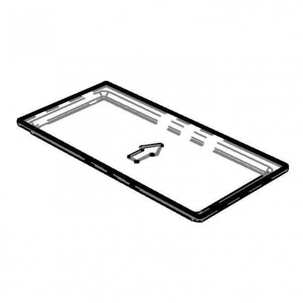 Einsatz Tropfschale, 296 x 146 mm, PC transparent, für Trio