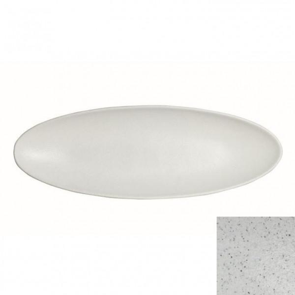 Obstplatte, oval marmorweiß - 3,5 L - 25 x 70 x 5,5 cm