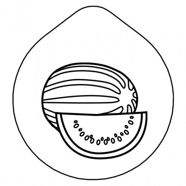 ACCESSOIRE Laserung 'Wassermelone' Edelstahldeckel