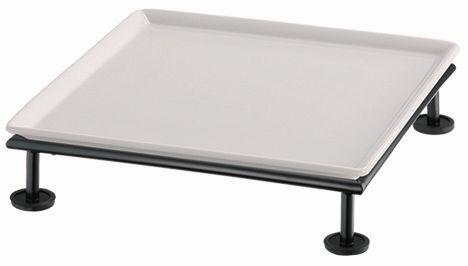 RAISER 'Frischeplatte 33x33' weiß S-Standfuß 'Black Steel'