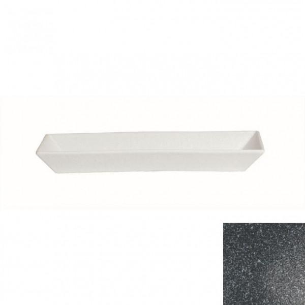 Schale rechteckig, tief granitschwarz - 3,0 L - 21 x 50,5 x