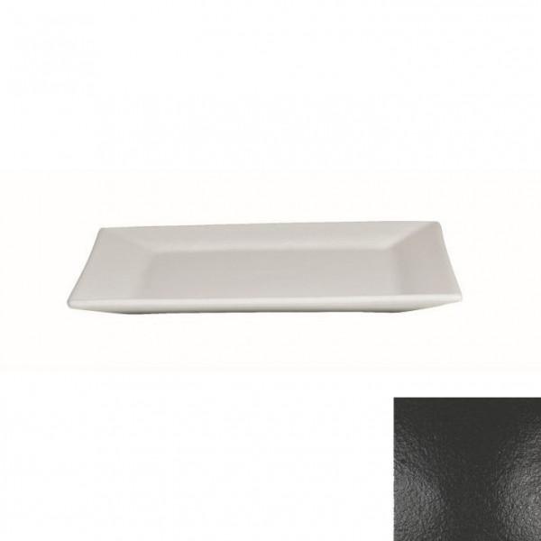 Platte flach, quadratisch schwarz - 32 x 32 x 2 cm