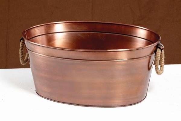 Kupfer Getränkewanne, oval 11,4 l - 17,1 x 39,4 x 29,2 cm