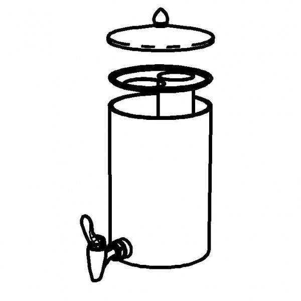 SPARE Nachschubbehälter klar, Saftkanne 5 Liter, Mod. Gold