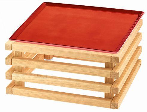 RAISER 'Frischeplatte 33x33' rot L-Standfuß 'Oak'