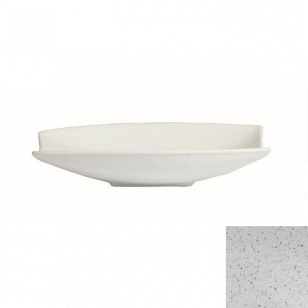 Obstschale mit Lippe, rechteckig marmorweiß - 4 L - 30,5 x