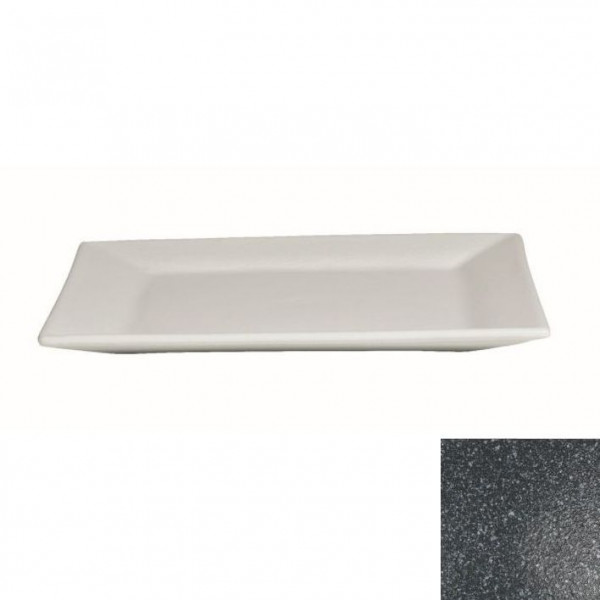 flache Platte, quadratisch granitschwarz - 45 x 45 x 4,5 cm
