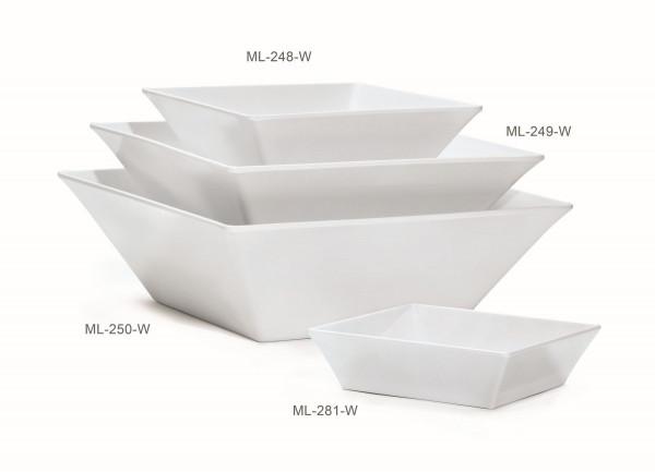 Melamin Schale, quadratisch Siciliano® - weiß - 19,3 l