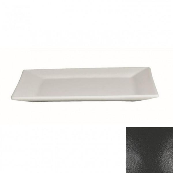 flache Platte, quadratisch schwarz - 45 x 45 x 4,5 cm