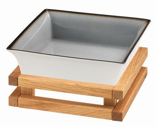 RAISER 'Frischeschale 23x23' grau 2,5 l - S-Standfuß 'Oak'