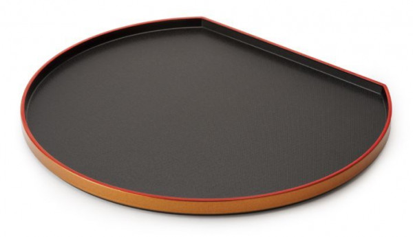 ABS Tablett, halbmondförmig Rot/Schwarz - Ø 35,6 cm