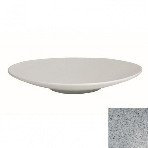Wok flach, rund grau - 3,5 L - Ø 47 x 7 cm